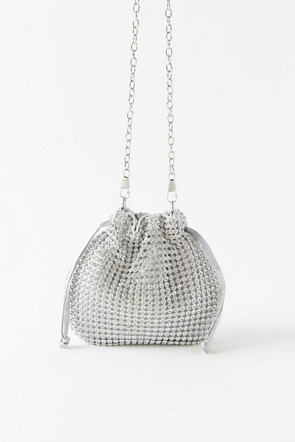 $9.99 ( 原價 $24 ) 【Urban Outfitters】Drawstring Rhinestone 亮片水桶包