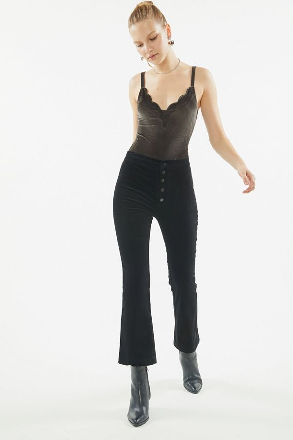 Uo Kat Velvet High Waisted Kick Flare Pant by Urban Outfitters