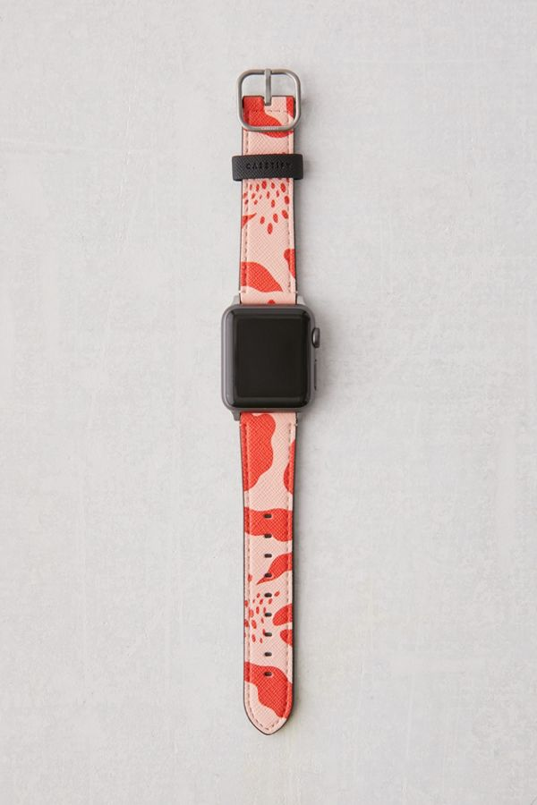 casetify-red-abstract-apple-watch-strap by casetify