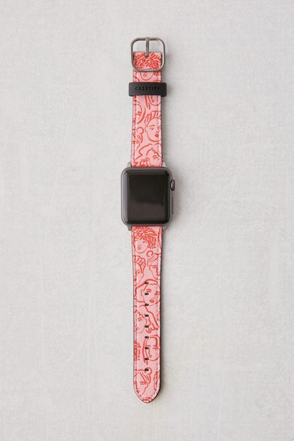 casetify-portraits-pink-apple-watch-strap by casetify