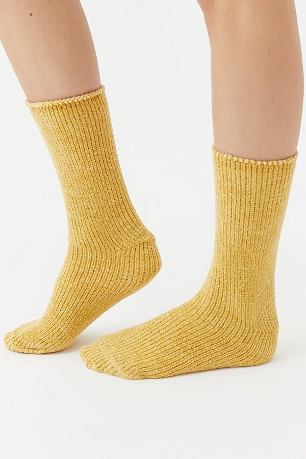 Chenille Plush Crew Sock by Urban Outfitters