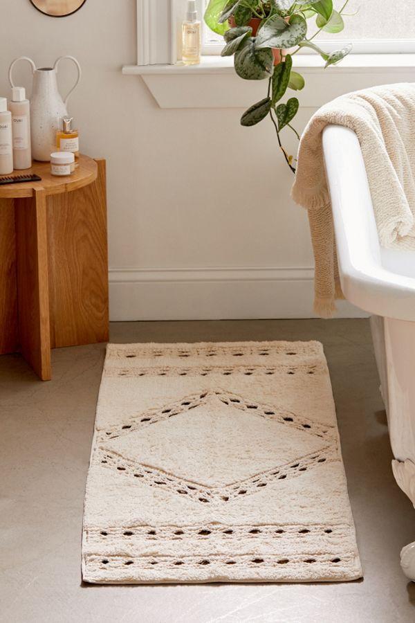 Slide View: 1: Crochet Inset Runner Bath Mat