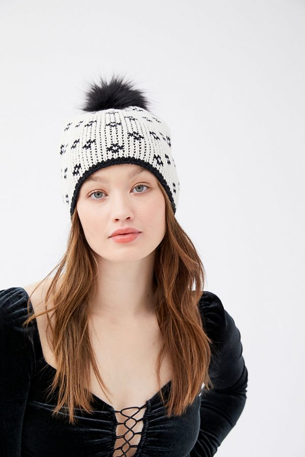 Bird's Eye Pom Beanie