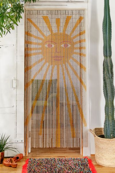 Sun Bamboo Beaded Curtain Urban Outfitters