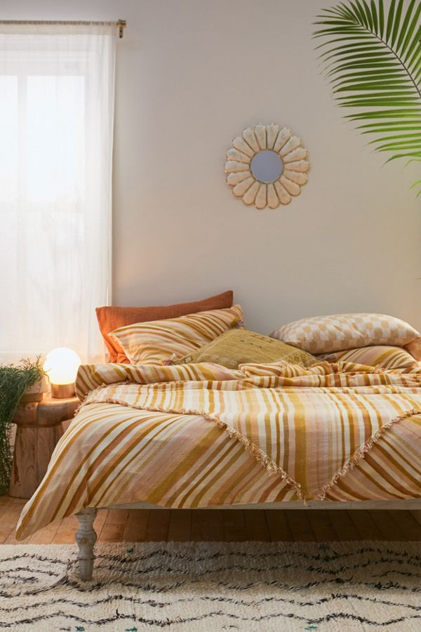 Slide View: 1: Sabir Striped Duvet Cover