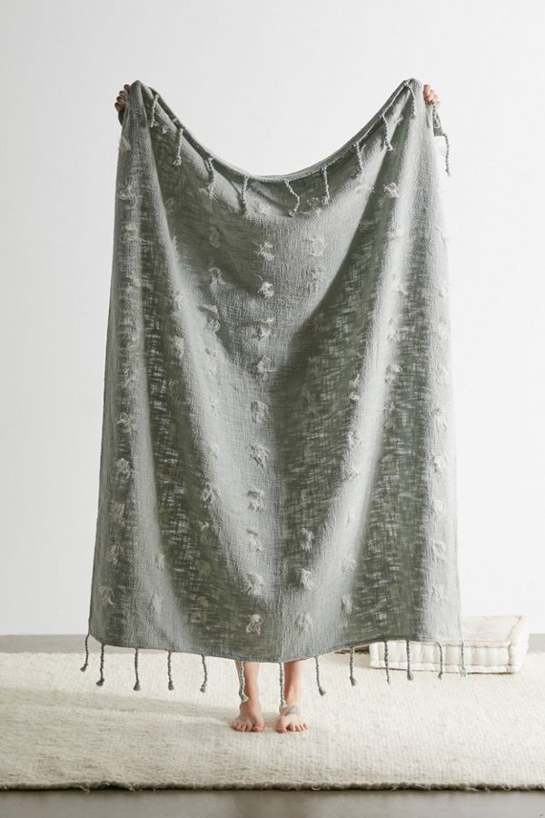 Zoha Whisker Fringe Throw Blanket by Urban Outfitters