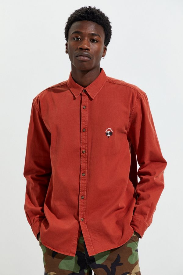 Uo Embroidered Button Down Shirt by Urban Outfitters