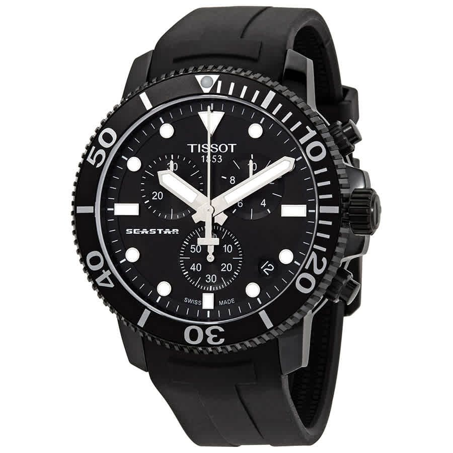Tissot Seastar 1000 Chronograph Quartz Black Dial Men's Watch T120.417.37.051.02 by Tissot