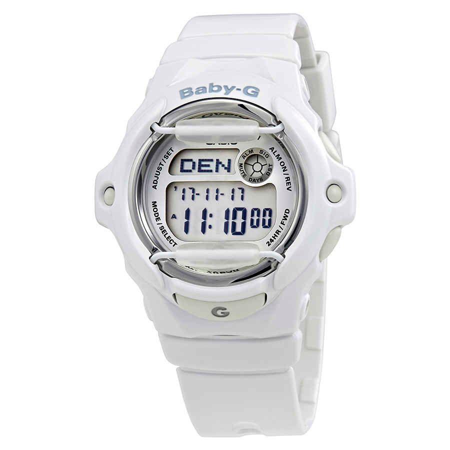 Casio Baby G White Resin Digital Watch Bg169r 7acu