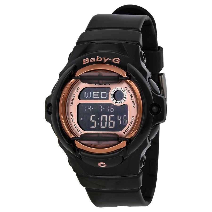 Casio Baby G Digital Dial Black Resin Watch Bg169g 1cr