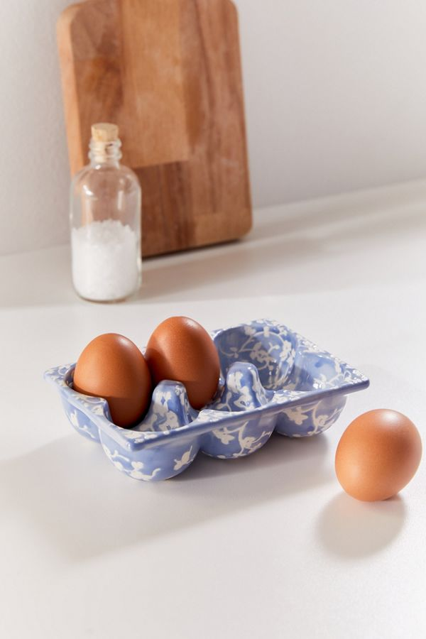 Slide View: 1: Floral Egg Tray