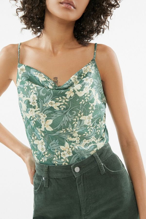 Uo Mel Satin Cowl Neck Cami by Urban Outfitters