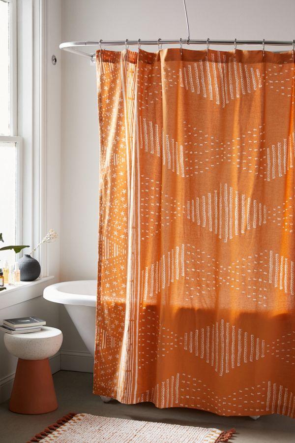 Slide View: 1: Malin Geo Shower Curtain