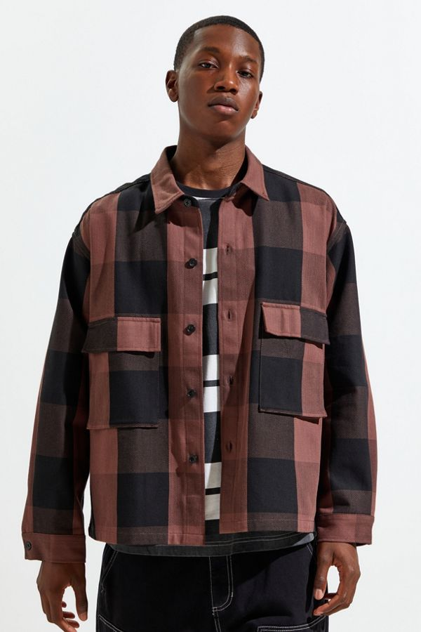 Monkey Time Block Checked Cpo Jacket by Monkey Time