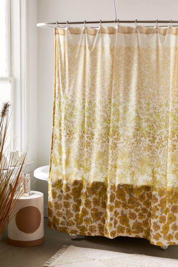 Slide View: 1: Raquel Floral Shower Curtain