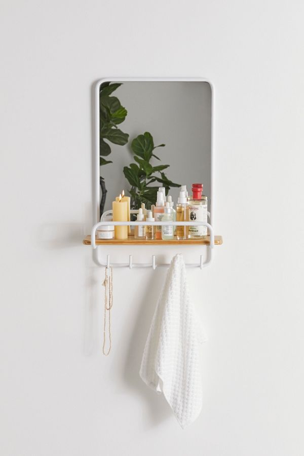 Slide View: 1: Shelby Mirror Wall Shelf