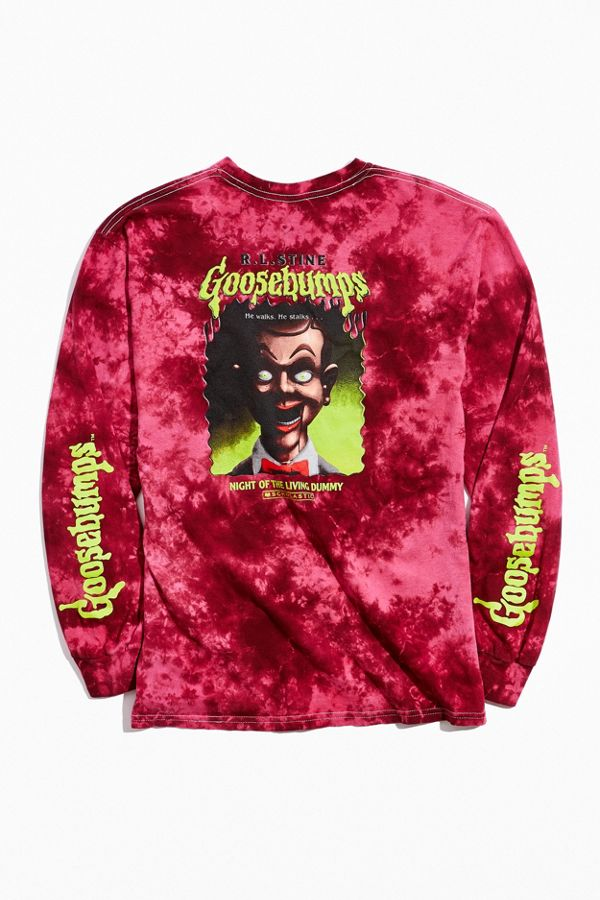 Goosebumps Slappy Tie Dye Long Sleeve Tee by Urban Outfitters