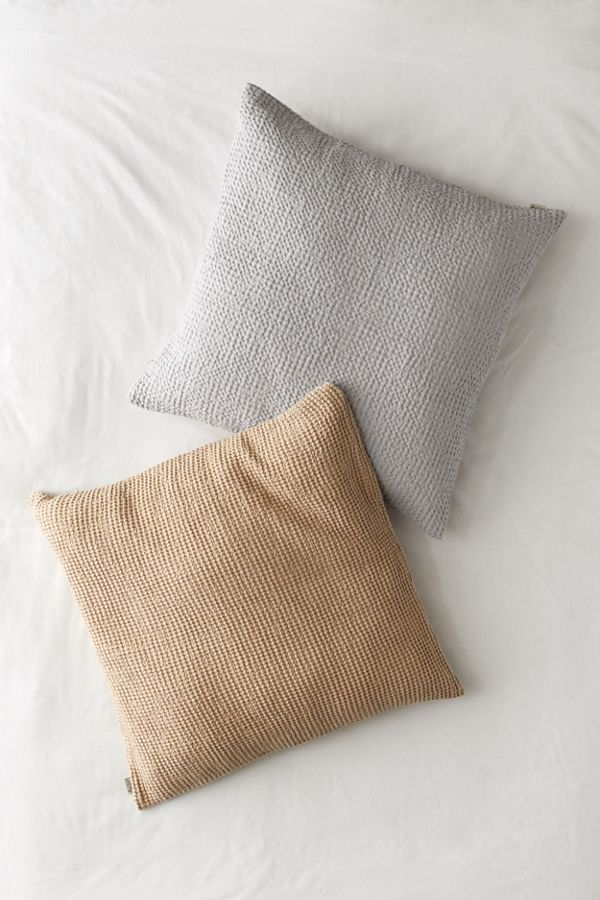 Slide View: 1: MagicLinen Waffle Throw Pillow Cover