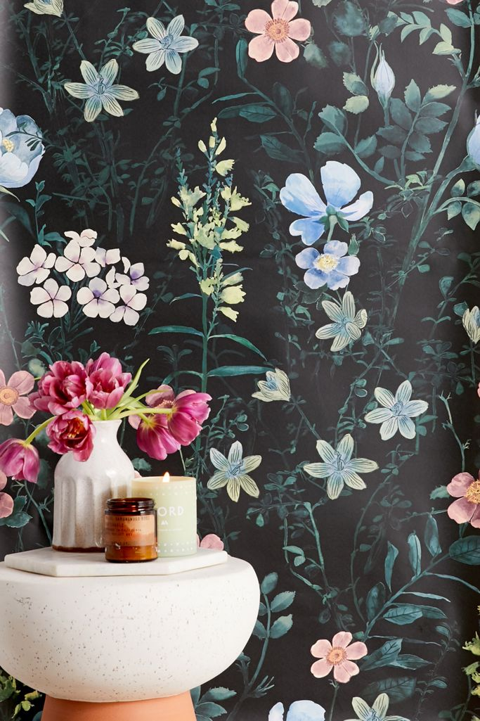 Lorelli Floral Removable Wallpaper Urban Outfitters