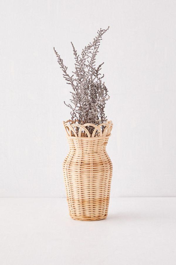 Slide View: 1: Priscilla Small Rattan Vase