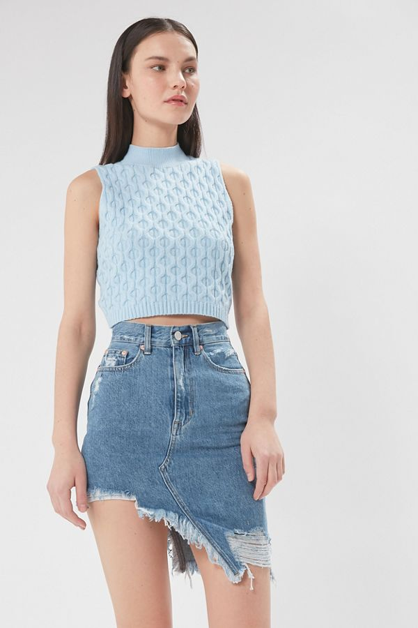really cheap wholesale price factory outlets ZGY DENIM Step Mum Destructed Denim Mini Skirt | Urban Outfitters