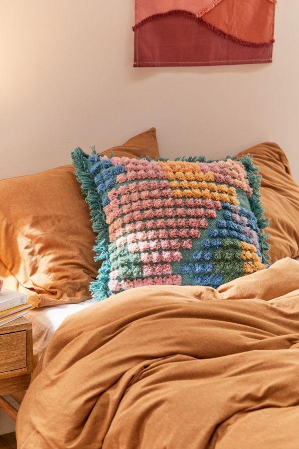 Slide View: 1: Kip&Co Tufted Throw Pillow