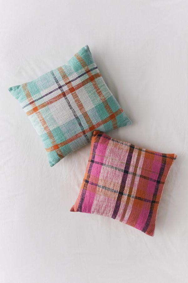 Slide View: 3: Kip&Co Plaid Throw Pillow