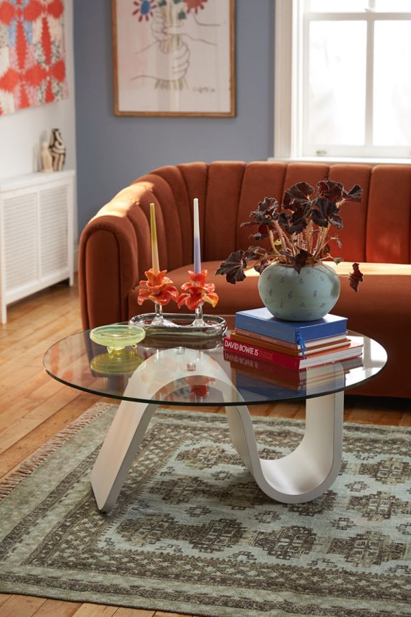 Slide View: 1: Bettie Glass Coffee Table