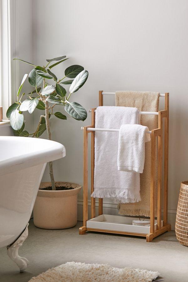 Slide View: 1: 3-Tier Bamboo Towel Rack