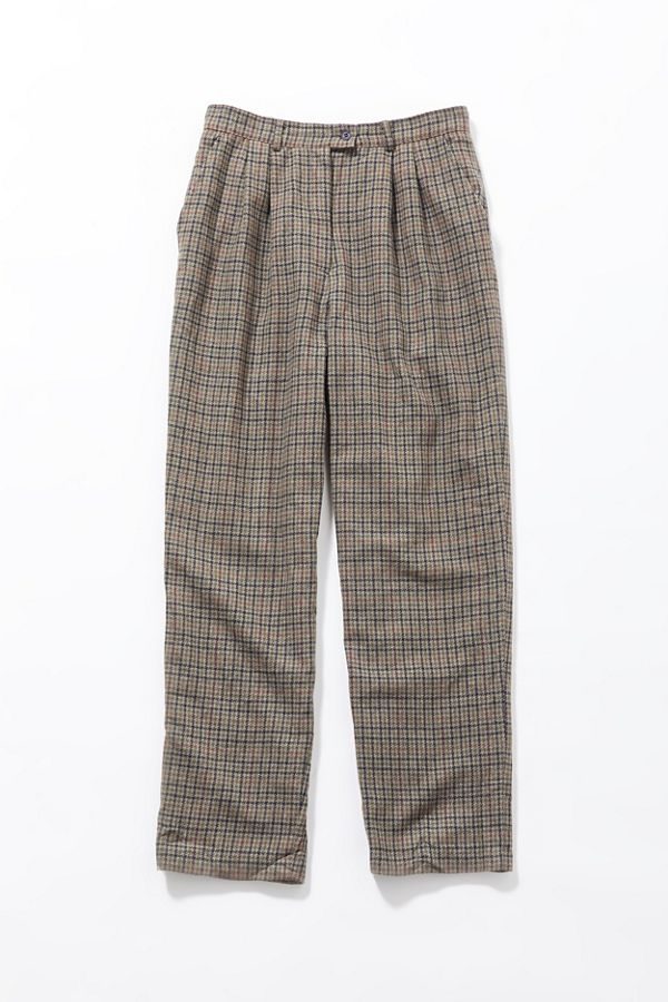 Vintage Light Brown Plaid Trouser Pant by Urban Renewal