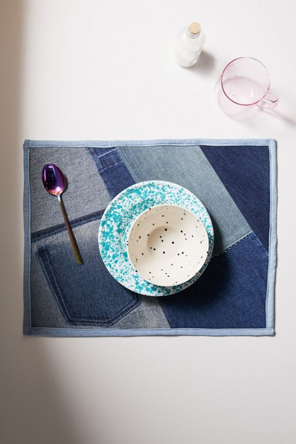 Slide View: 1: SilkDenim One-Of-A-Kind Remnant Placemat Set