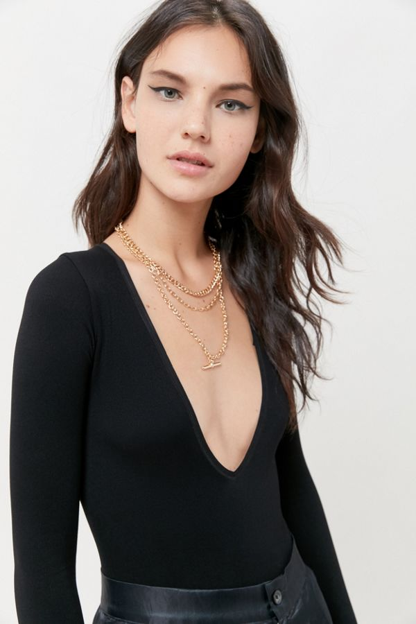 Out From Under Emerson Seamless Deep V Bodysuit by Out From Under