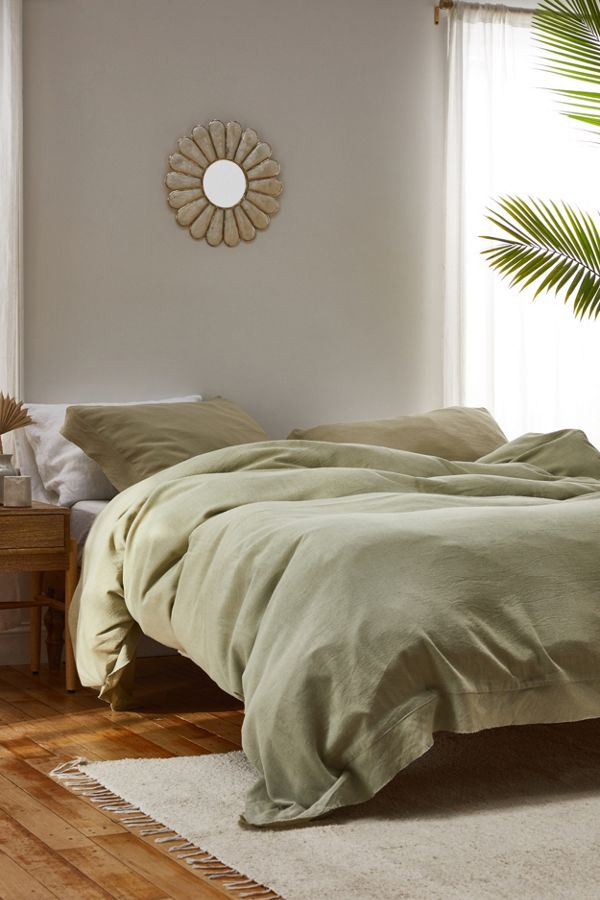 Slide View: 1: Palmer Linen Blend Duvet Cover