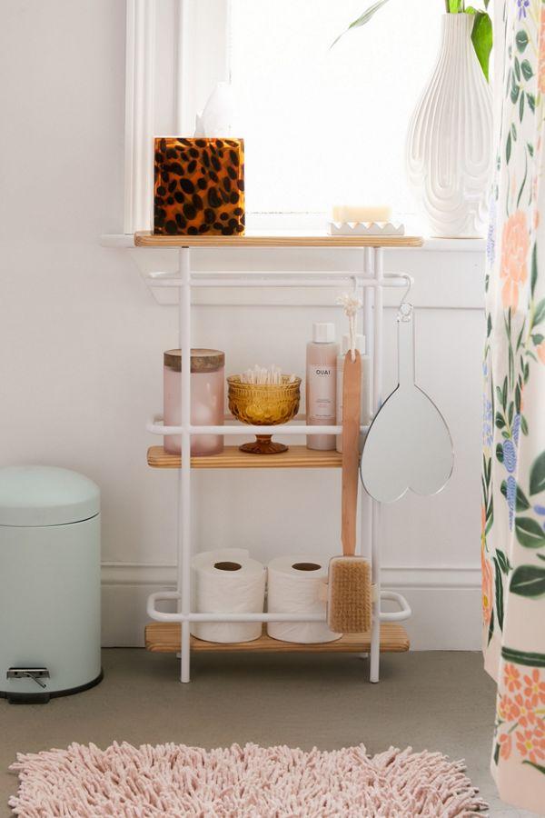 Slide View: 1: Shelby Bathroom Storage Shelf