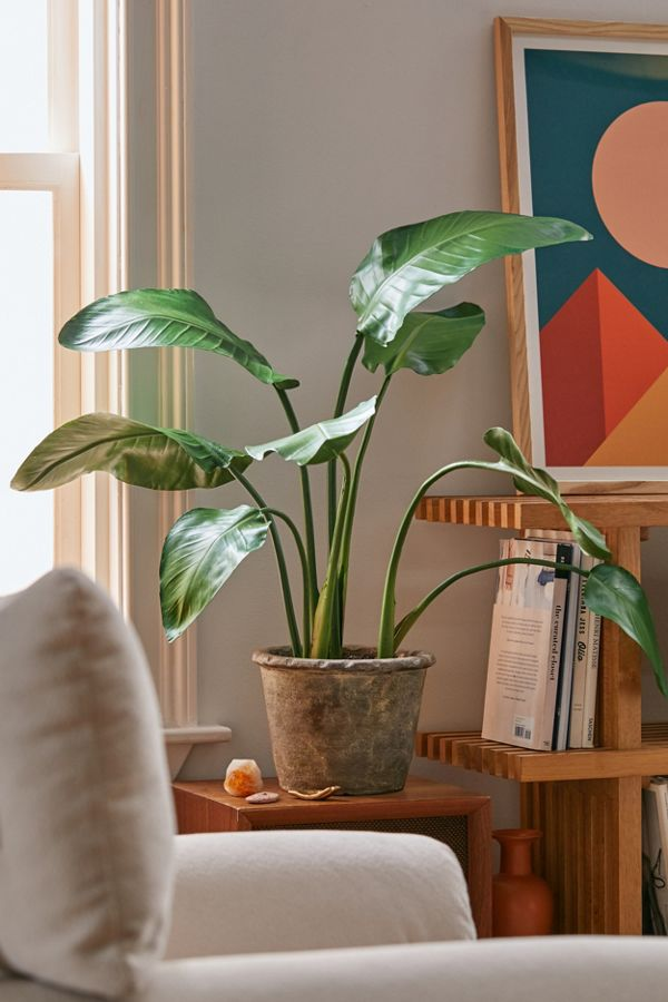 Slide View: 1: Bird Of Paradise Potted Faux Plant