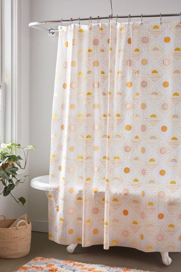 Slide View: 1: Sun Icon PEVA Shower Curtain