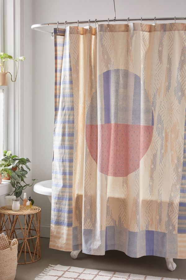 Slide View: 1: Dominique Printed Shower Curtain