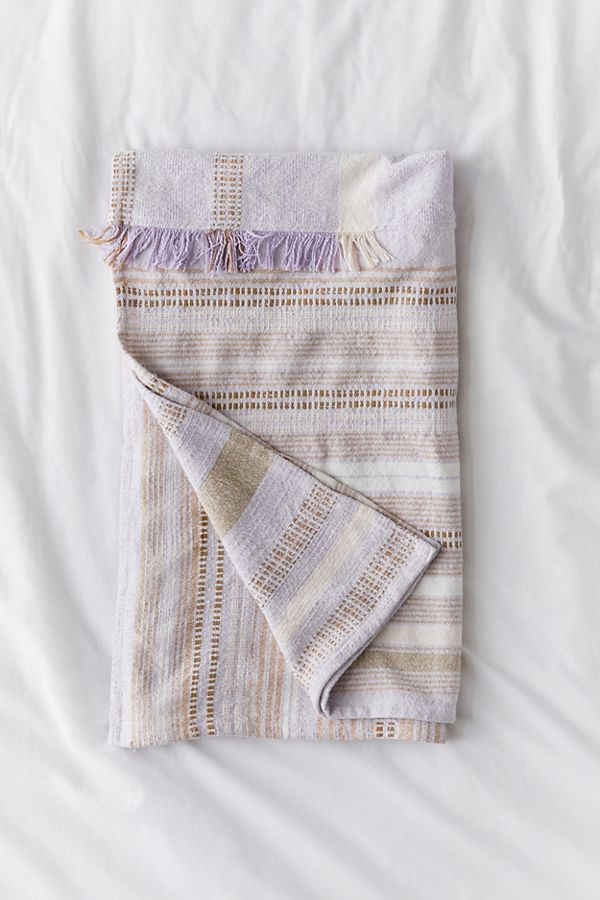 Slide View: 2: Mackenzie Patched Throw Blanket