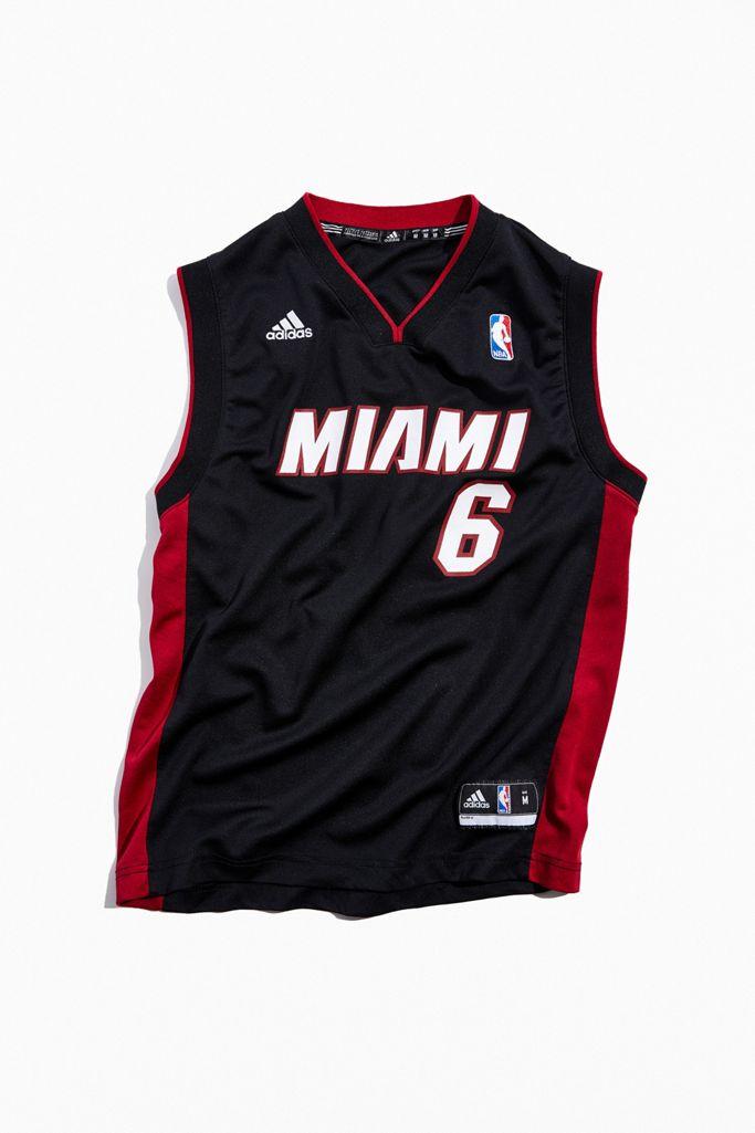 Vintage Miami Heat Lebron James Nba Basketball Jersey Urban Outfitters