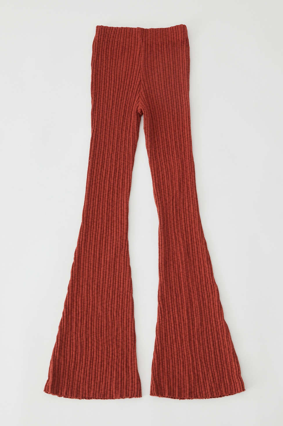 UO Rosie Ribbed High-Waisted Flare Pant | Urban Outfitters