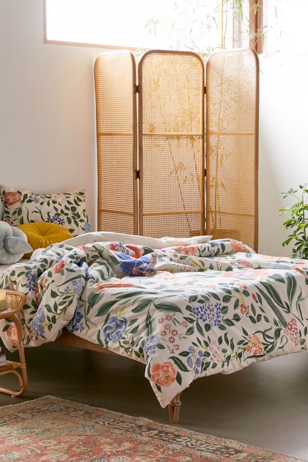 Slide View: 1: Jacinta Floral Duvet Cover