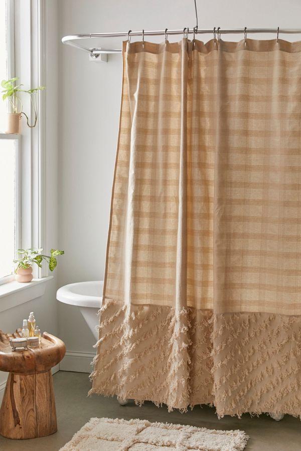 Slide View: 1: Shaggy Shower Curtain