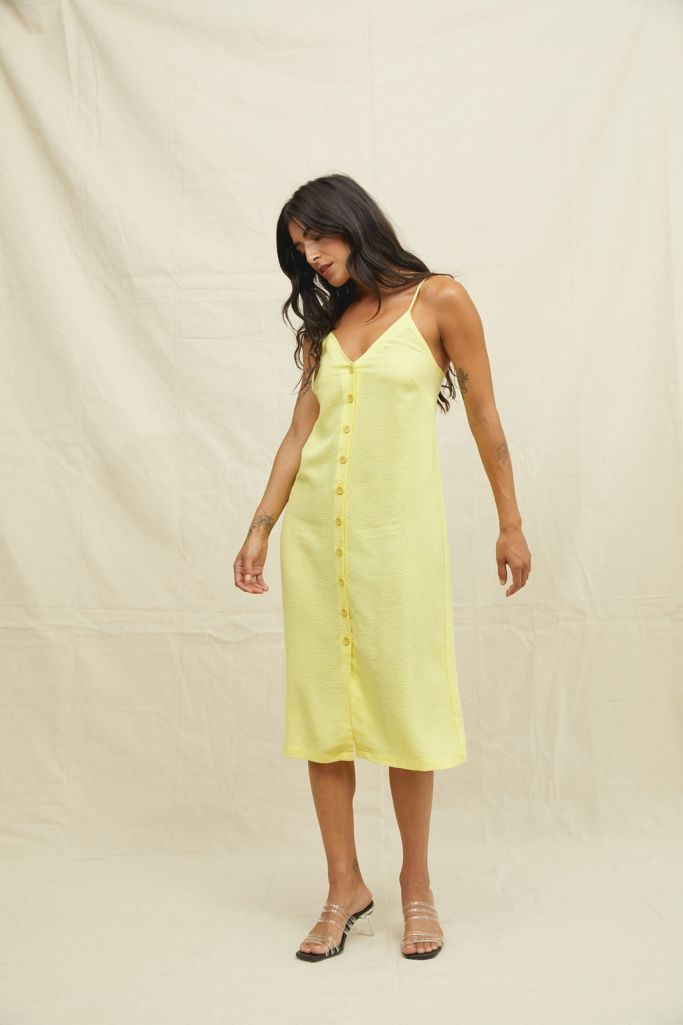 Urban Outfitters Back Beat Co. Button Front Slip Dress