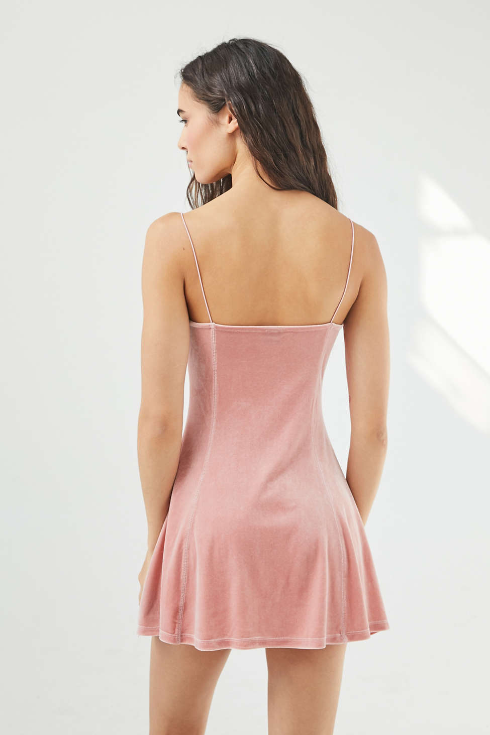 UO Peaches Velvet Mini Dress | Urban Outfitters