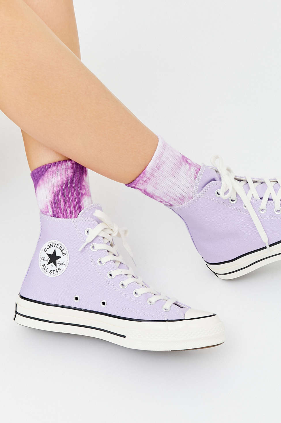 Tie-Dye Quarter Crew Sock | Urban Outfitters