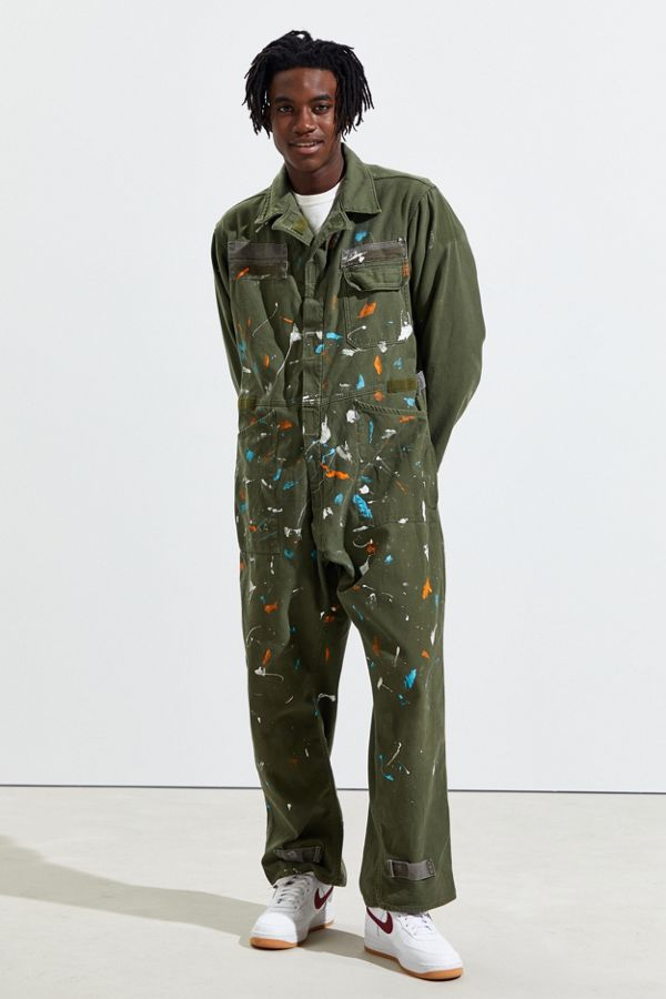 Urban Renewal Vintage Paint Splatter Coverall by Urban Renewal