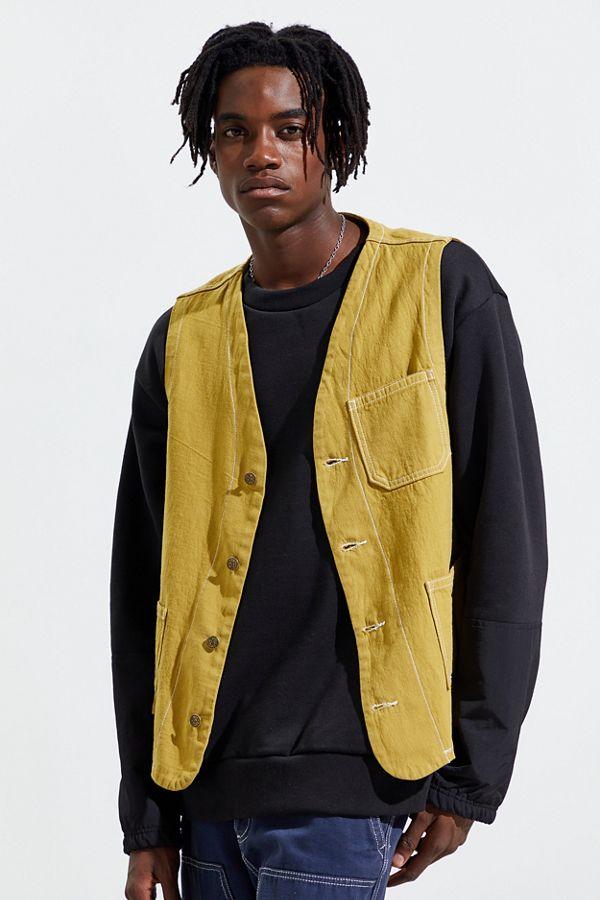 Urban Renewal Vintage Overdyed Workwear Vest by Urban Renewal