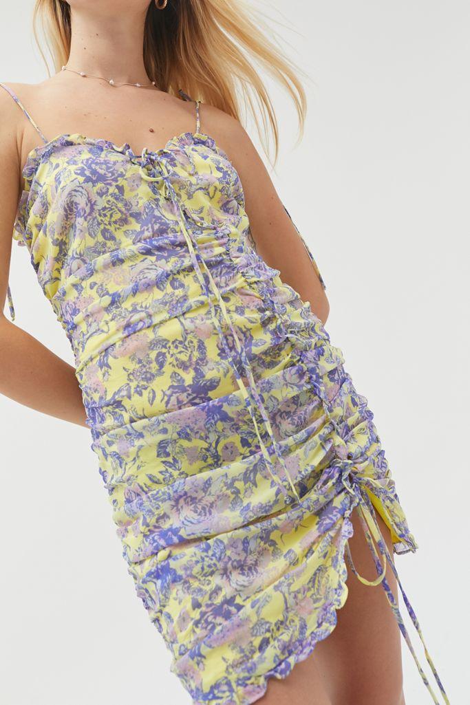 For Love Lemons Maui Shirred Mini Dress Urban Outfitters