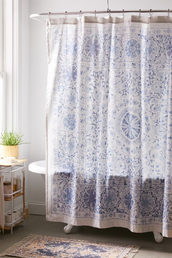 Slide View: 1: Leena Suzani Shower Curtain