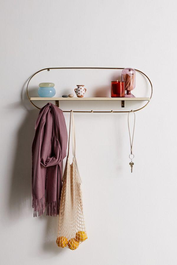 Slide View: 1: Ella Multi-Hook Wall Shelf